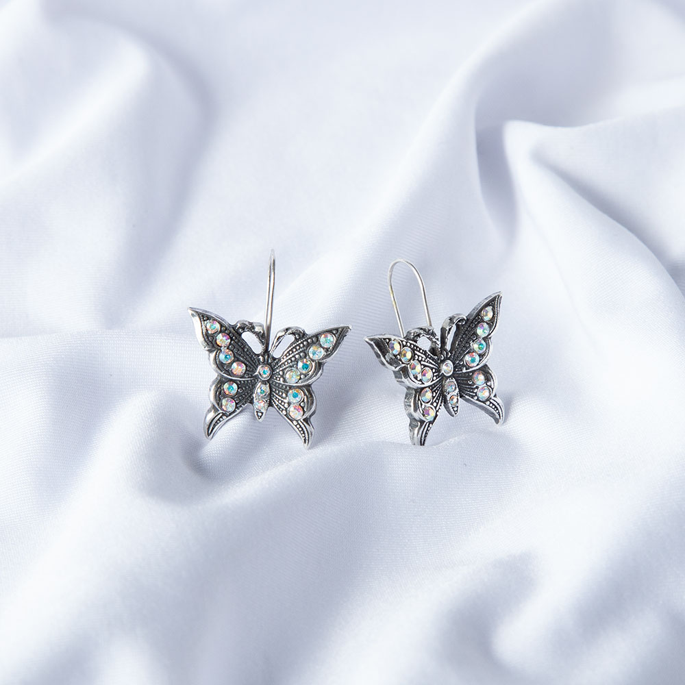 Take Flight Butterfly Drop Earrings (E4688)